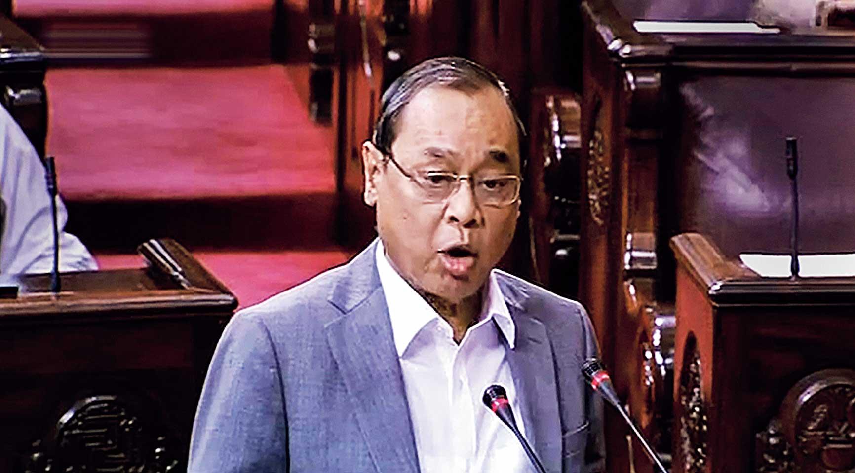 Ranjan Gogoi at the Rajya Sabha on Thursday.