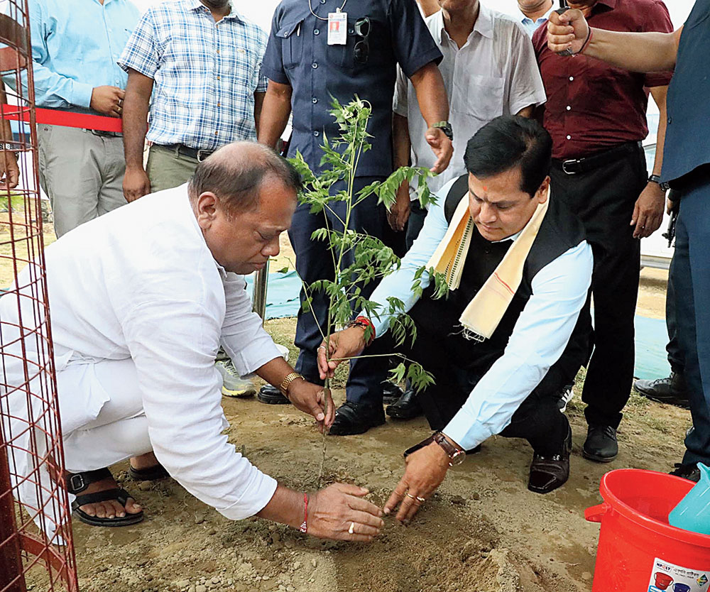 Sarbananda Sonowal in Silchar on Wednesday