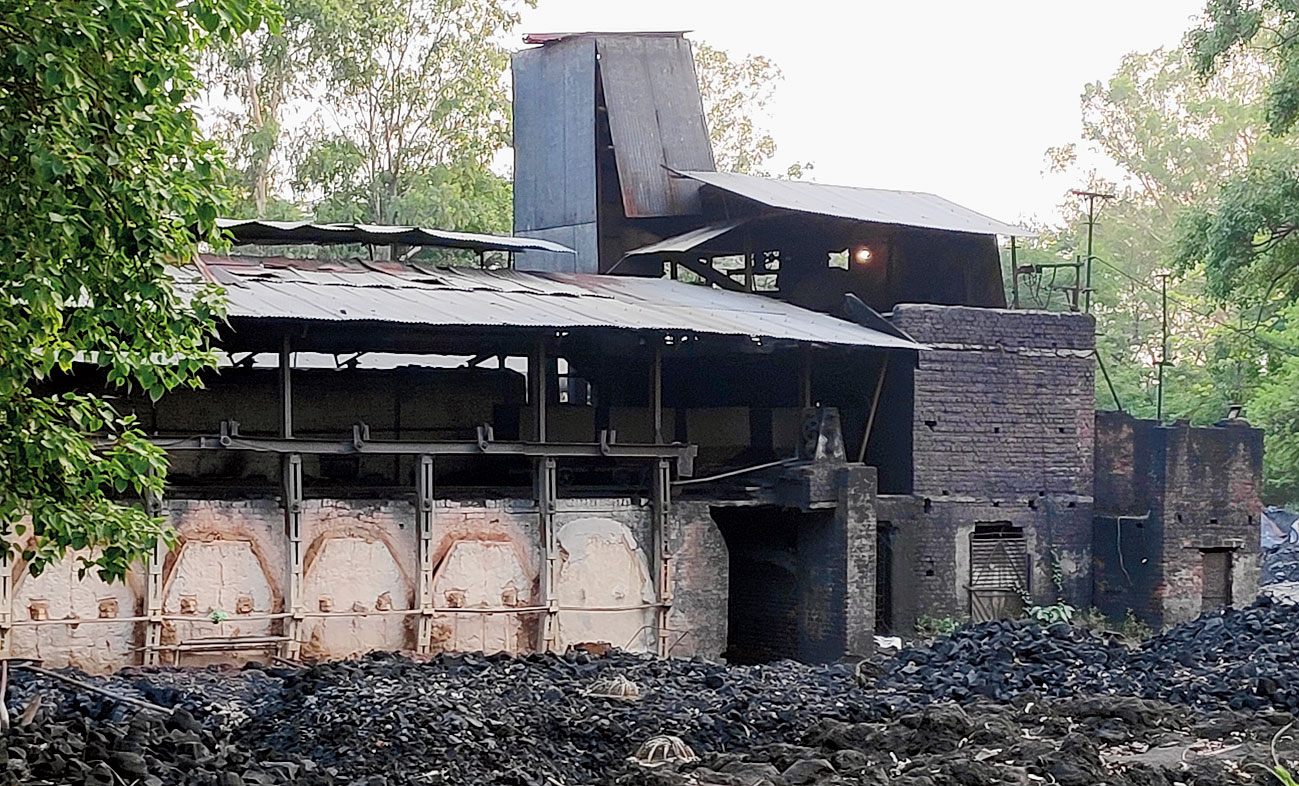 A closed hard coke factory at Govindpur in Dhanbad on Thursday.