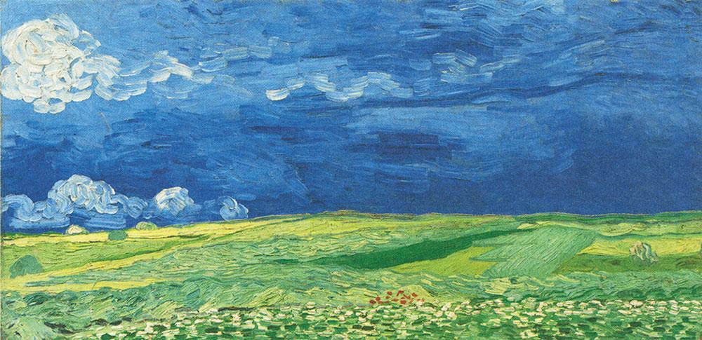 Wheatfield under Thunderclouds, 1890