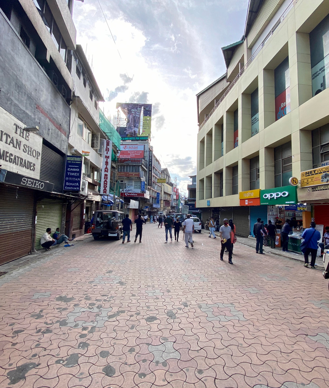 A street at Khyndailad, Shillong