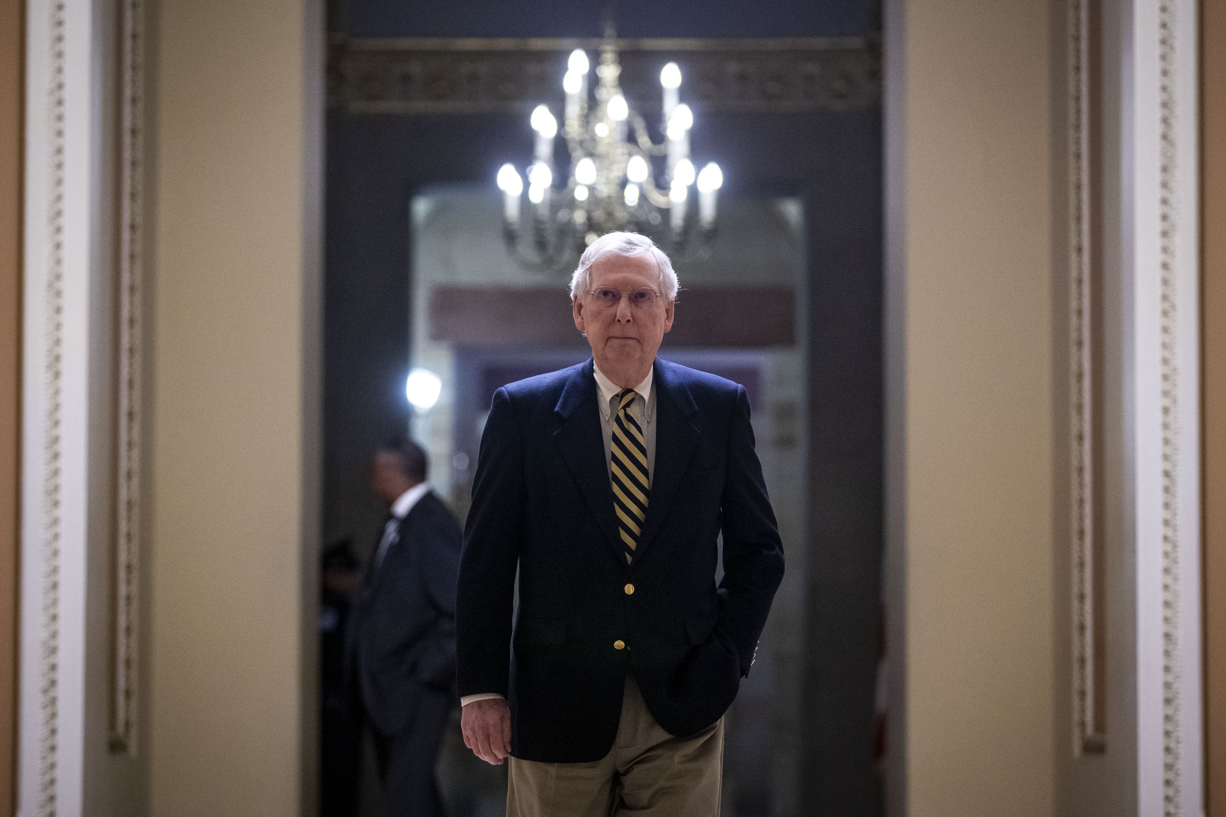 It was the divisive step that Senator Mitch McConnell and most other Republicans in the Senate had forcefully urged Trump not to take because it would establish a precedent they feared future Democratic Presidents would use against them.