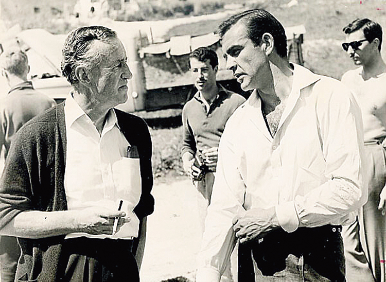 Sean Connery (right), the first big screen 007, with Bond creator Ian Fleming