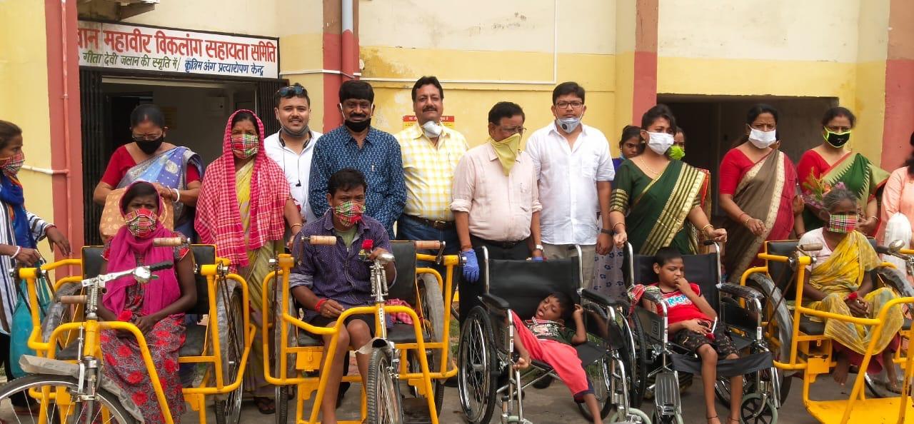 Bhagwan Mahavir Viklang Sahayta Samity (BMVSS), a unit of famous Jaipur Foot, after the lockdown on Sunday