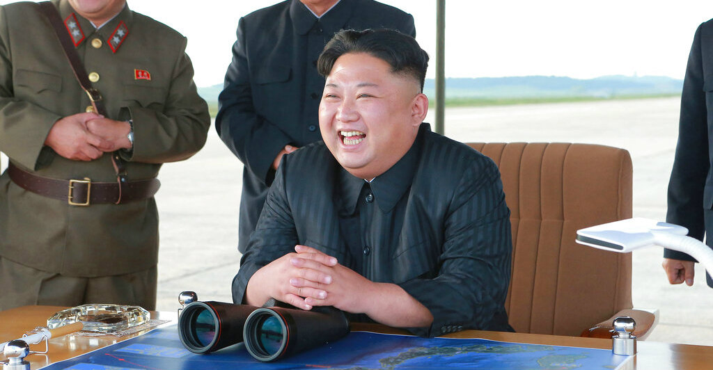 In this undated file photo distributed on September 16, 2017, by the North Korean government, Kim Jong-un attends what was said to be the test launch of an intermediate range Hwasong-12 missile at an undisclosed location in North Korea.