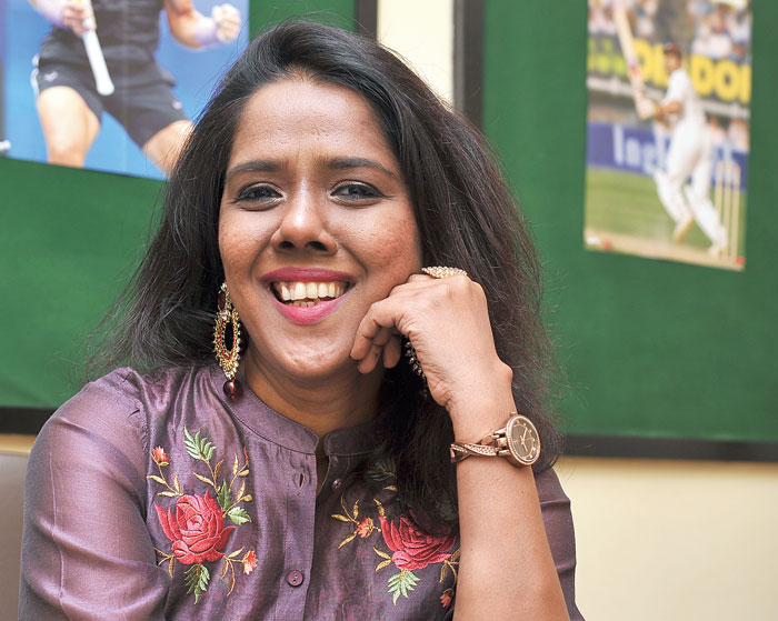 Mahalakshmi Iyer takes it all in philosophically and has a smart repartee for every query during her recent visit to Calcutta.