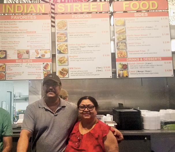 Dipti Chakraborty with husband Shamanno at their restaurant.