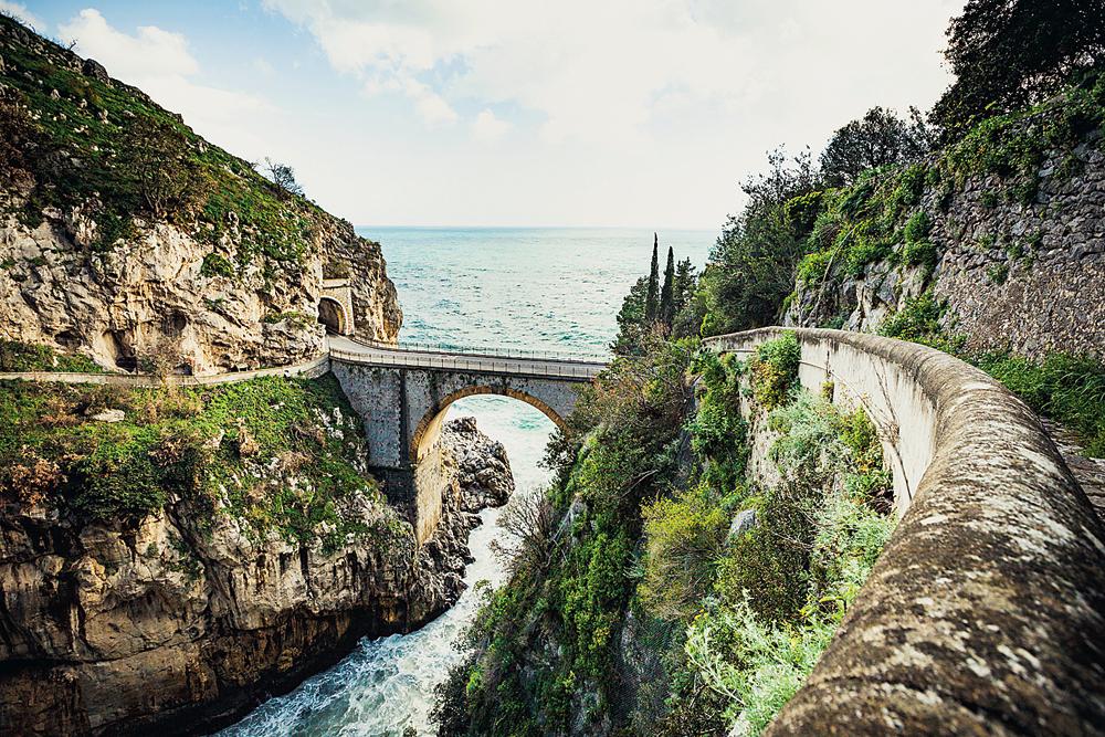Bridge over the fjord of Furore