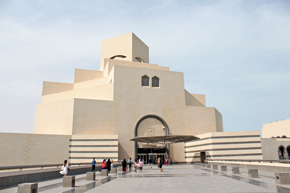 The architect of the Museum of Islamic Art was the legendary I.M. Pei, who had also designed the famous Louvre Pyramid in Paris