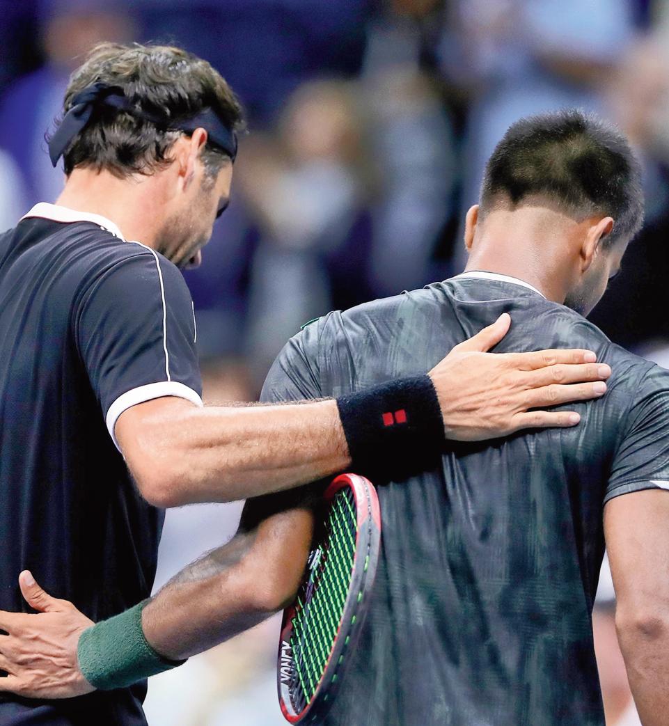 Federer's pat for Nagal