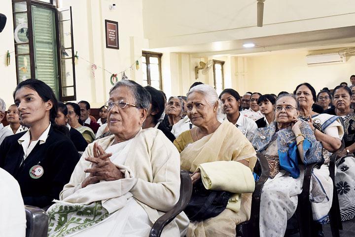 Senior citizens at Loreto House on Thursday