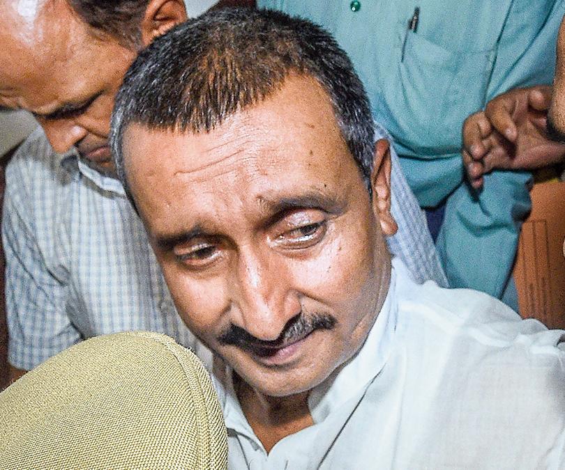 Kuldeep Singh Sengar in Lucknow on April 14, 2018