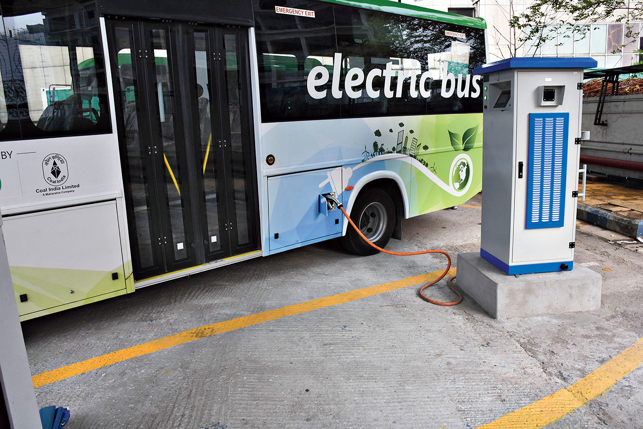 Electric buses in New Town