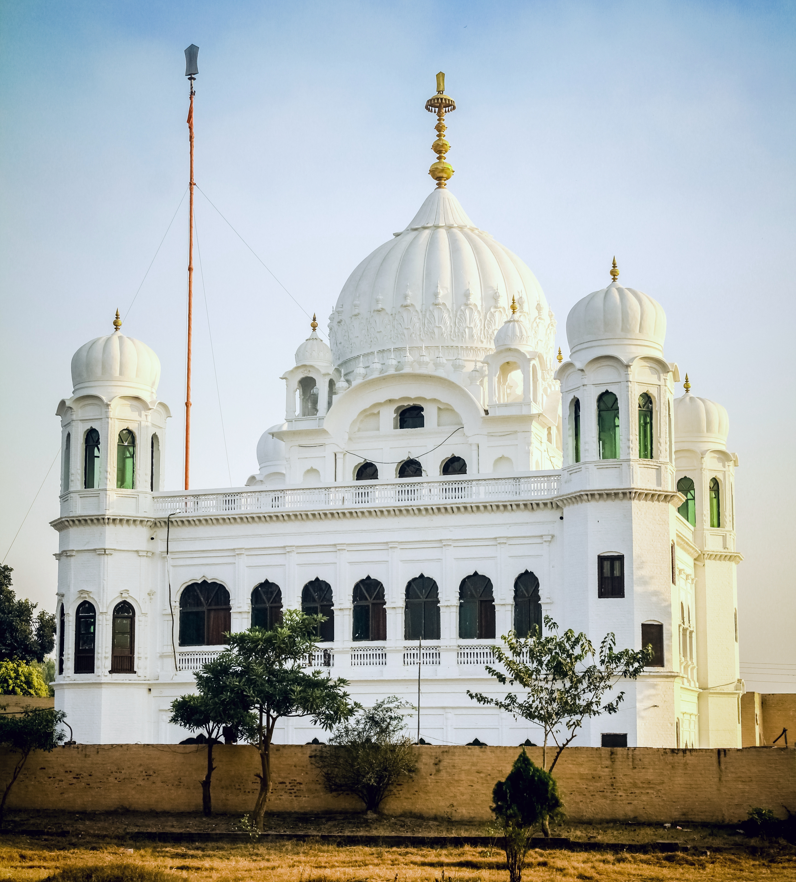 Kartarpur Sahib is visible from the Indian side of the border.