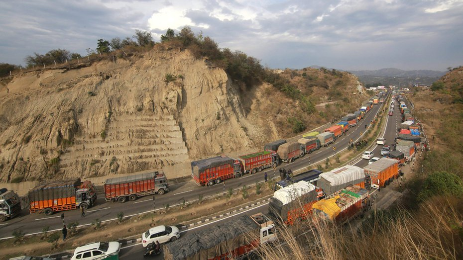 FIle photo of Jammu-Srinagar highway