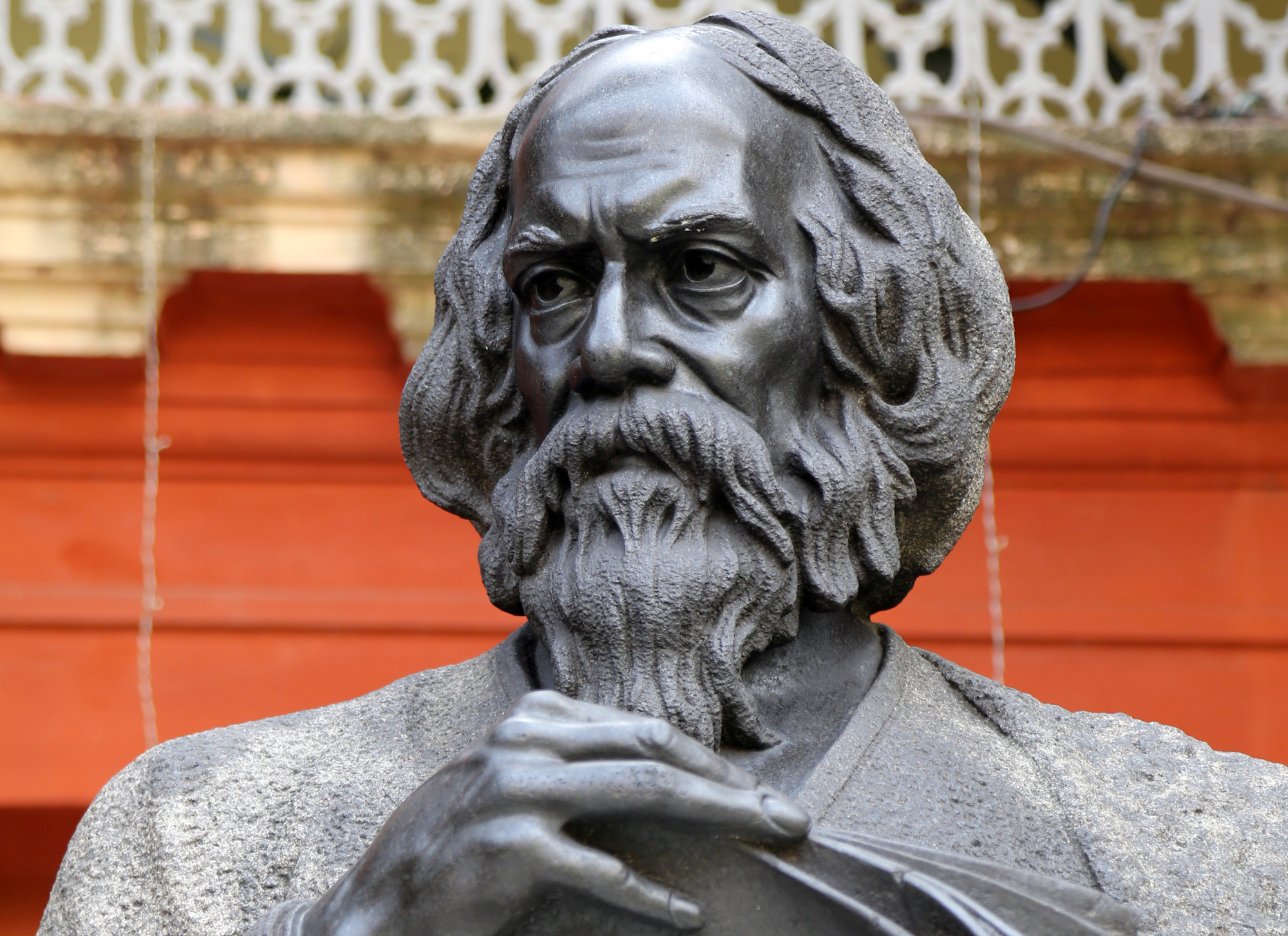 The guitar versions, usually of the most popular of Tagore's songs, played at the restaurant, produce a curious effect on those familiar with them.