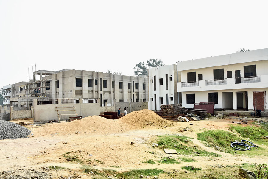 The hostel on the PMCH campus in Dhanbad on Thursday.
