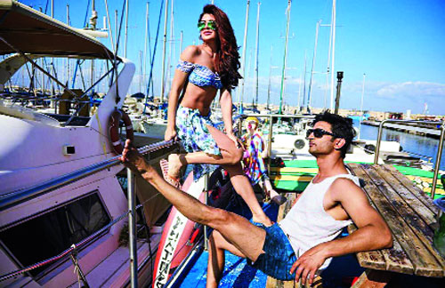 Sushant Singh Rajput and Jacqueline Fernandez in a still from the movie