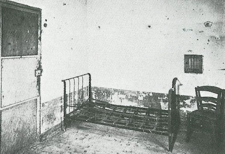 Vincent van Gogh's room at the institution in Saint-Rémy where he was admitted in the 1950s