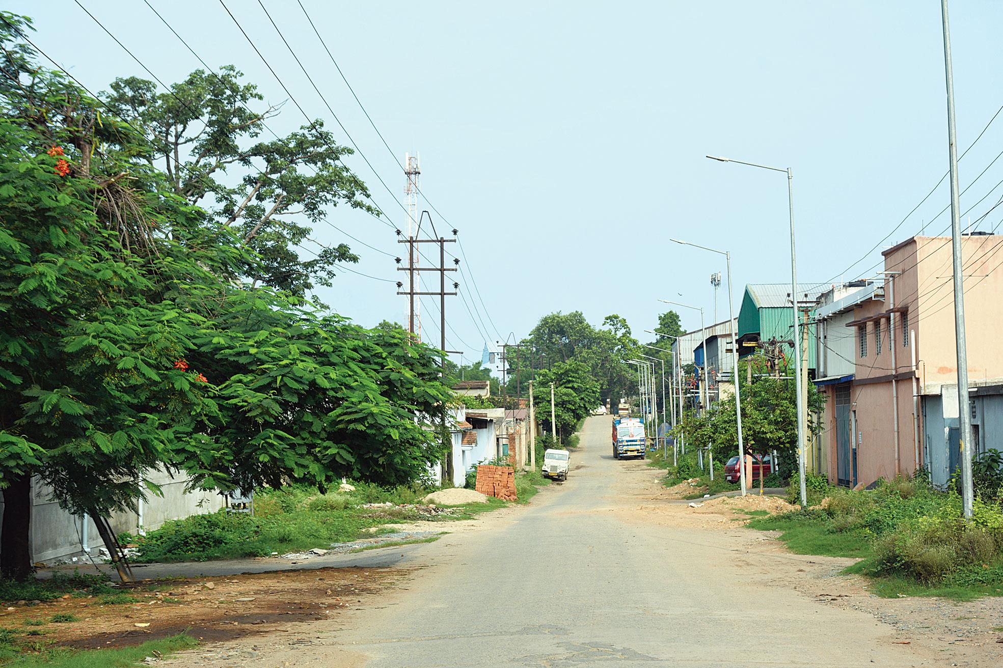 RIT Mor in Adityapur industrial area in Seraikela-Kharsawan wears a deserted look on Sunday.