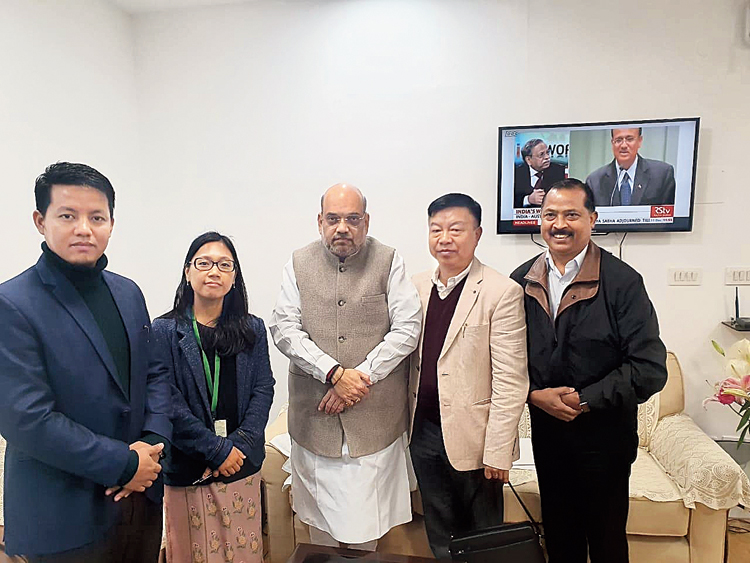 MPs meet Union home minister Amit Shah in New Delhi on Wednesday