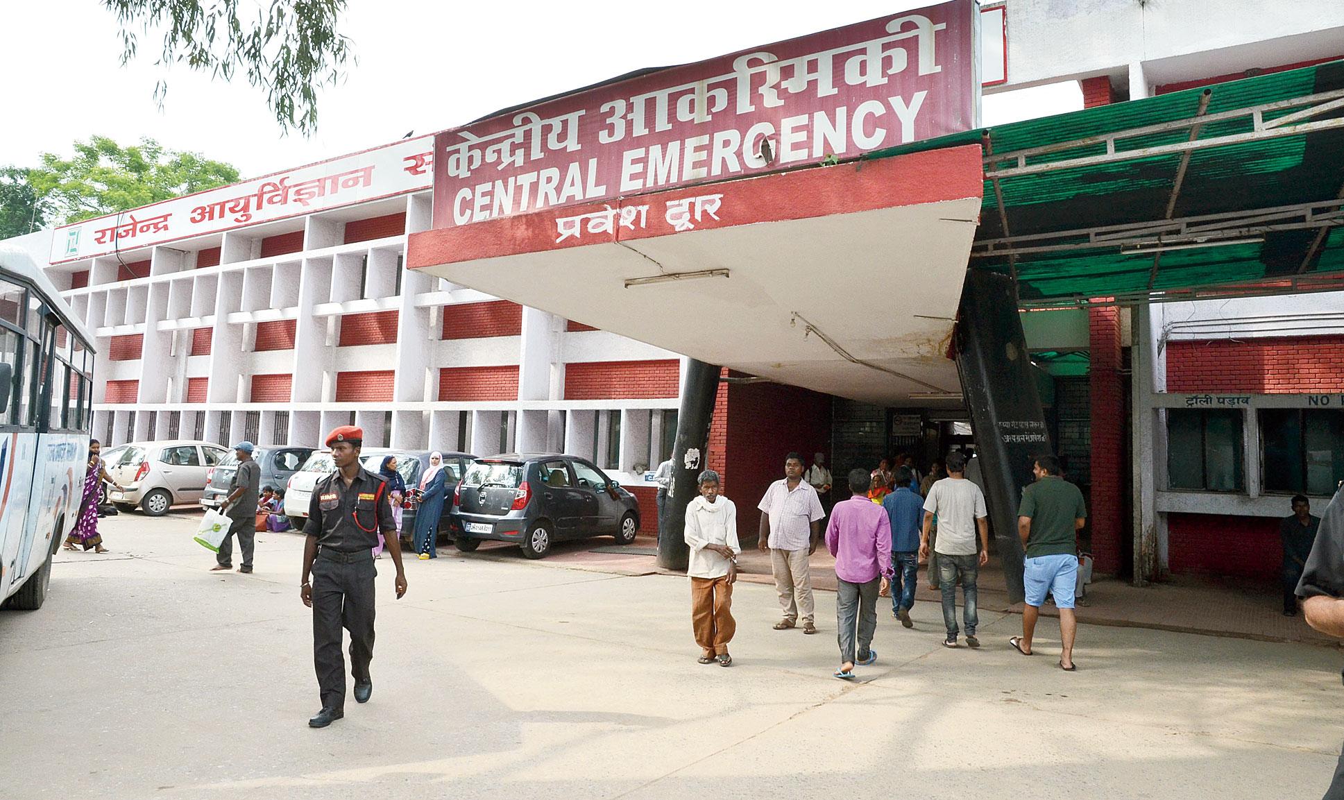 RIMS in Ranchi where Lohardaga SP's driver Ramratan Singh died during treatment