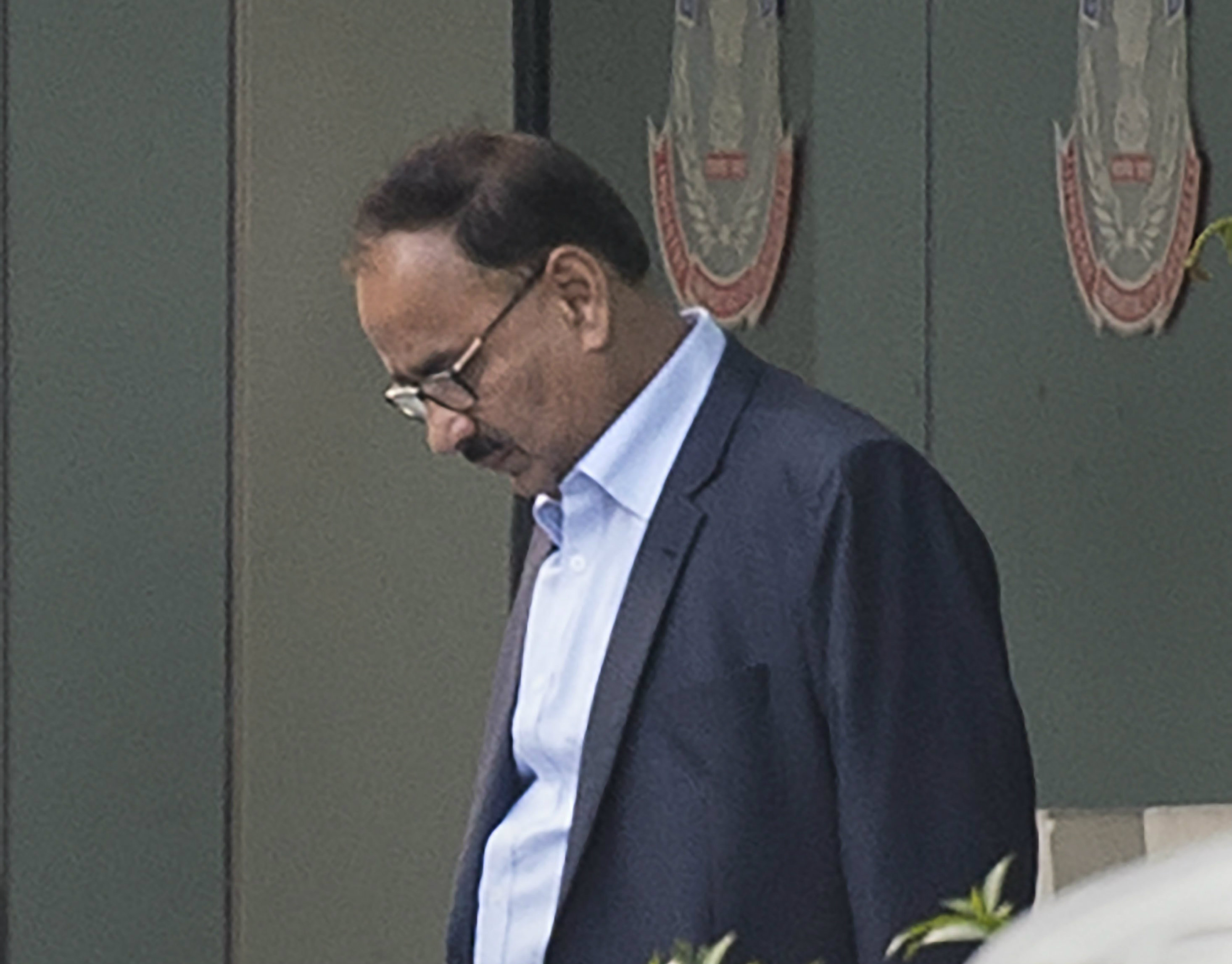 Alok Verma leaves the CBI headquarters on Wednesday.