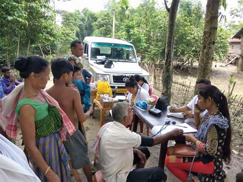 A medical camp for the flood-hit in Dibrugarh.