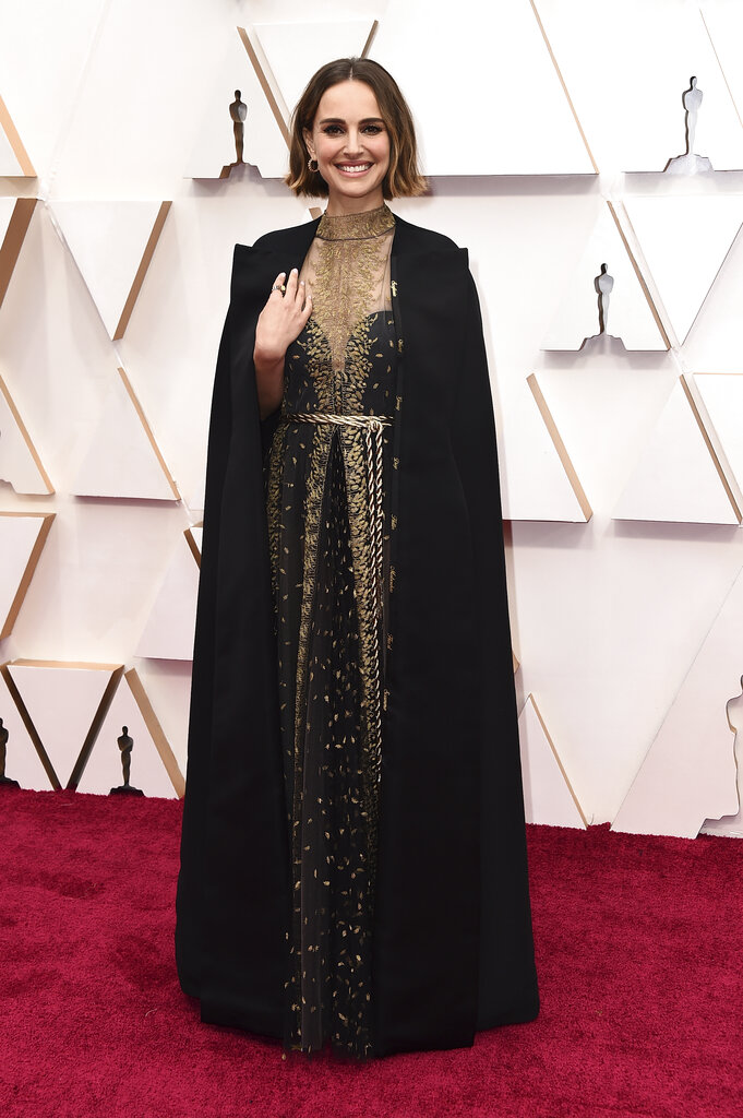 Natalie Portman arrives at the Oscars on Sunday, February 9, 2020, at the Dolby Theatre in Los Angeles