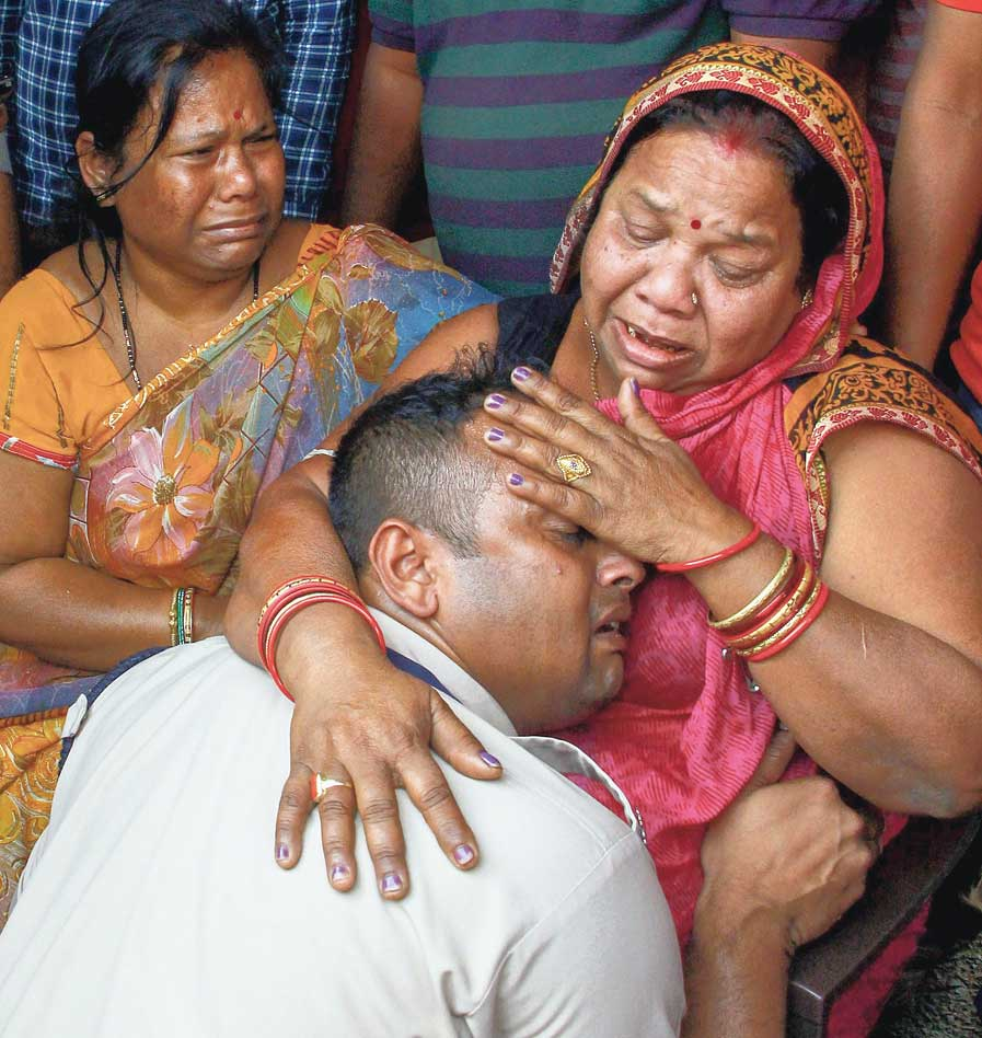 Manoj Kumar Behera's family mourns as his mortal remains arrive at Bhubaneswar airport two days after the CRPF jawan was killed in Pulwama — one of the 40 troopers dead in the worst-ever terror attack in Kashmir. Saturday was a day of funerals in many corners of the country.