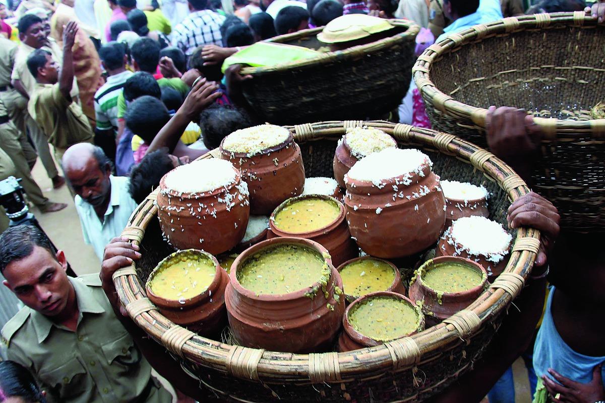 Mahaprasad in thali