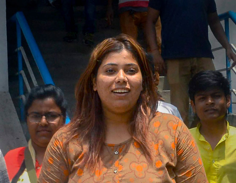 BJP activist Priyanka Sharma was arrested for allegedly posting a morphed image of West Bengal chief minister Mamata Banerjee on social media.