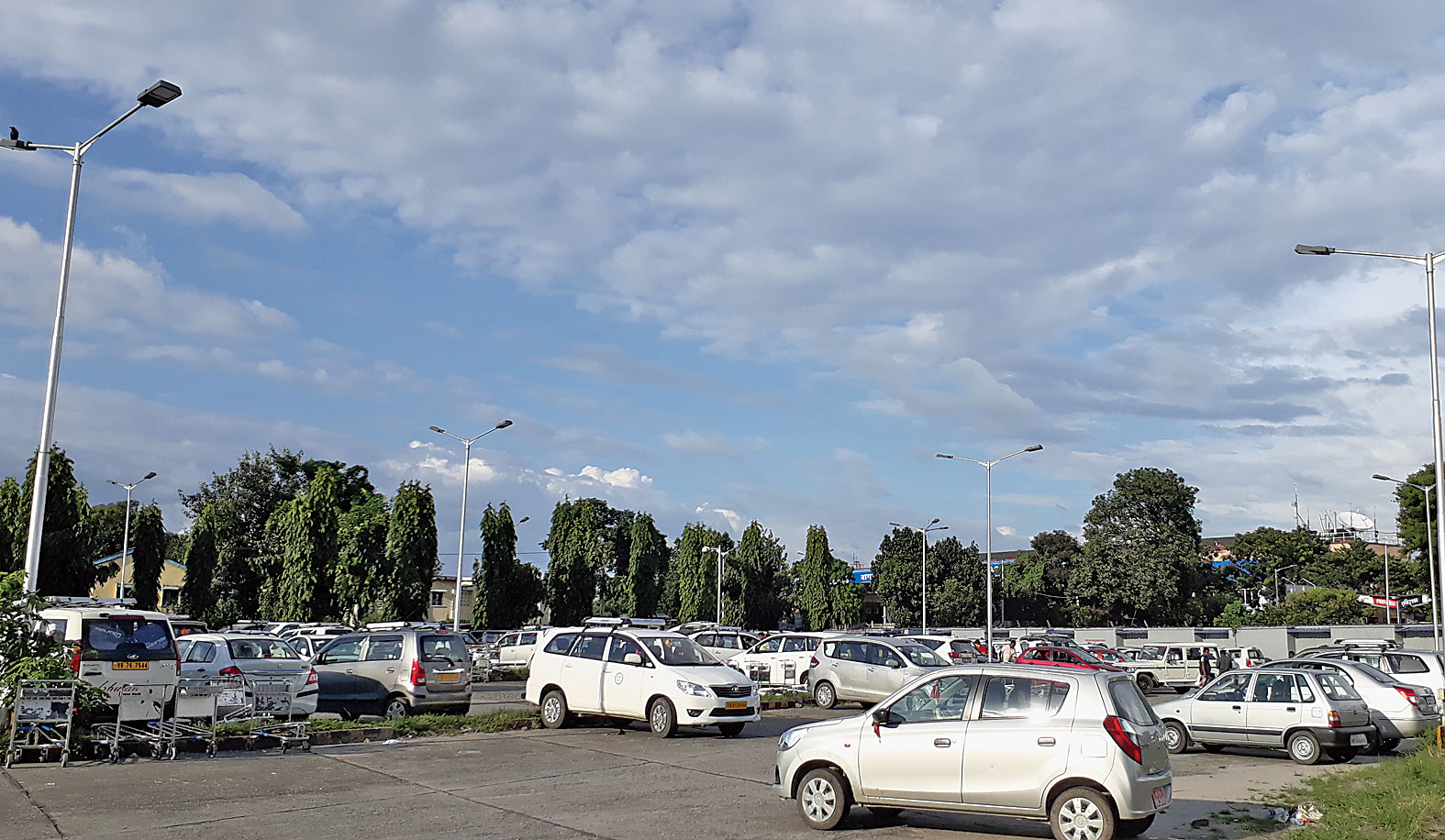The parking lot at the Bagdogra airport. An automated system is planned at the facility.