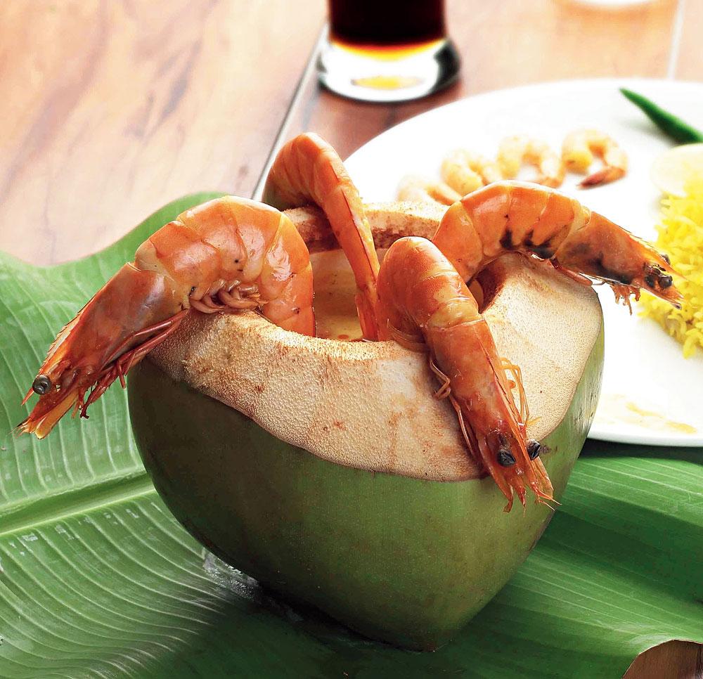 Daab Chingri, a Bengali delicacy