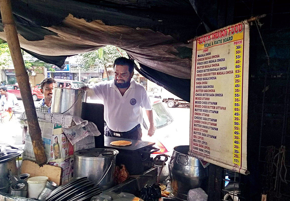 E. Chandran Swami's south Indian food stall