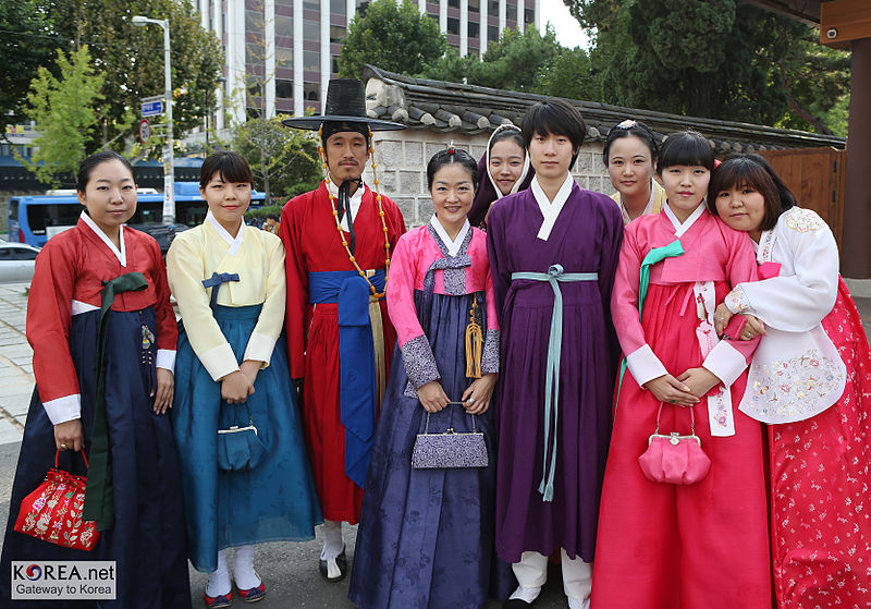 Everyone dresses up in conventional attire and sings traditional songs.