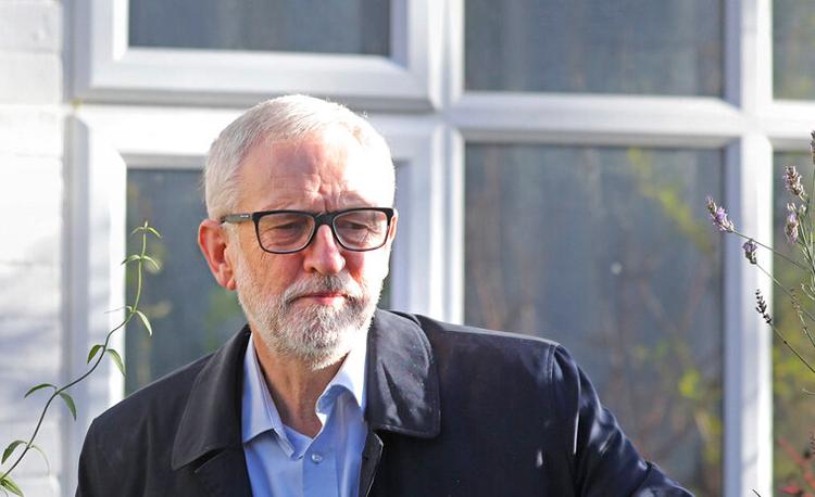 Jeremy Corbyn in London on December 14