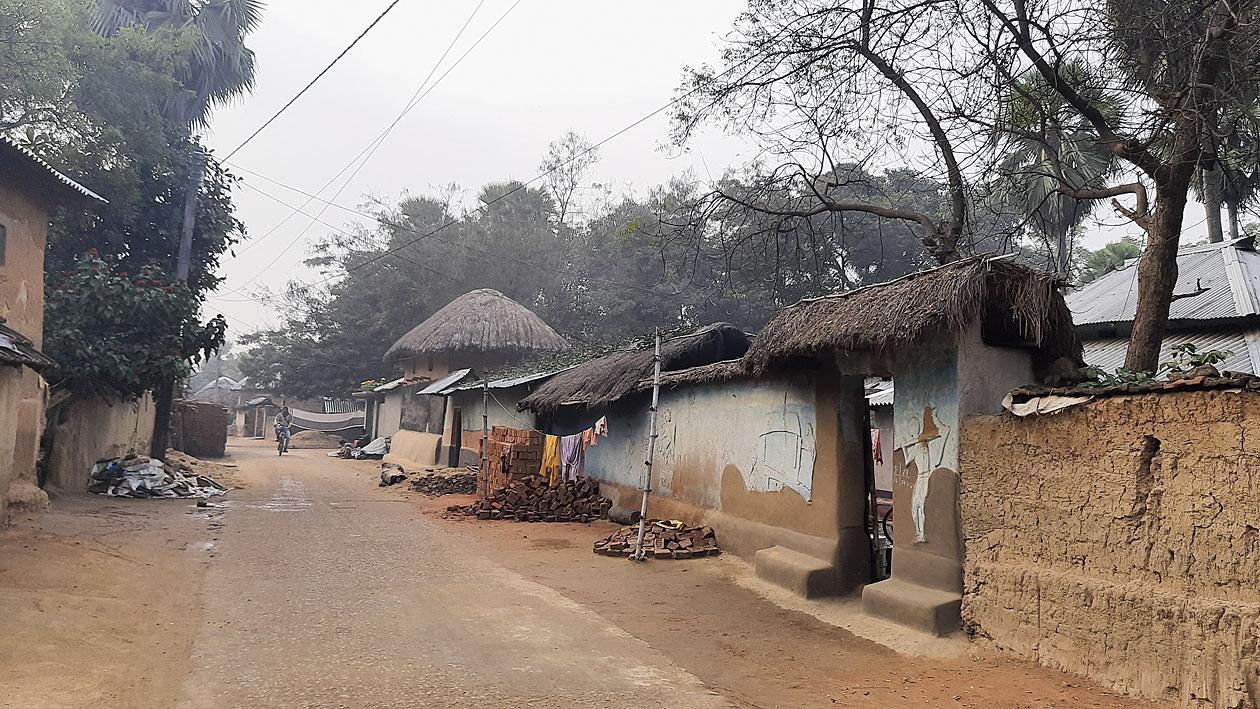 Pearson Pally — a tribal hamlet — at Visva-Bharati.