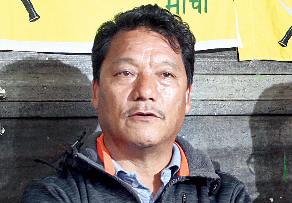 Bimal Gurung had last made a public appearance on Independence Day in 2017 but has been on the run since.