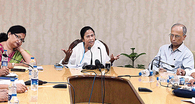 Chief minister Mamata Banerjee at the meeting