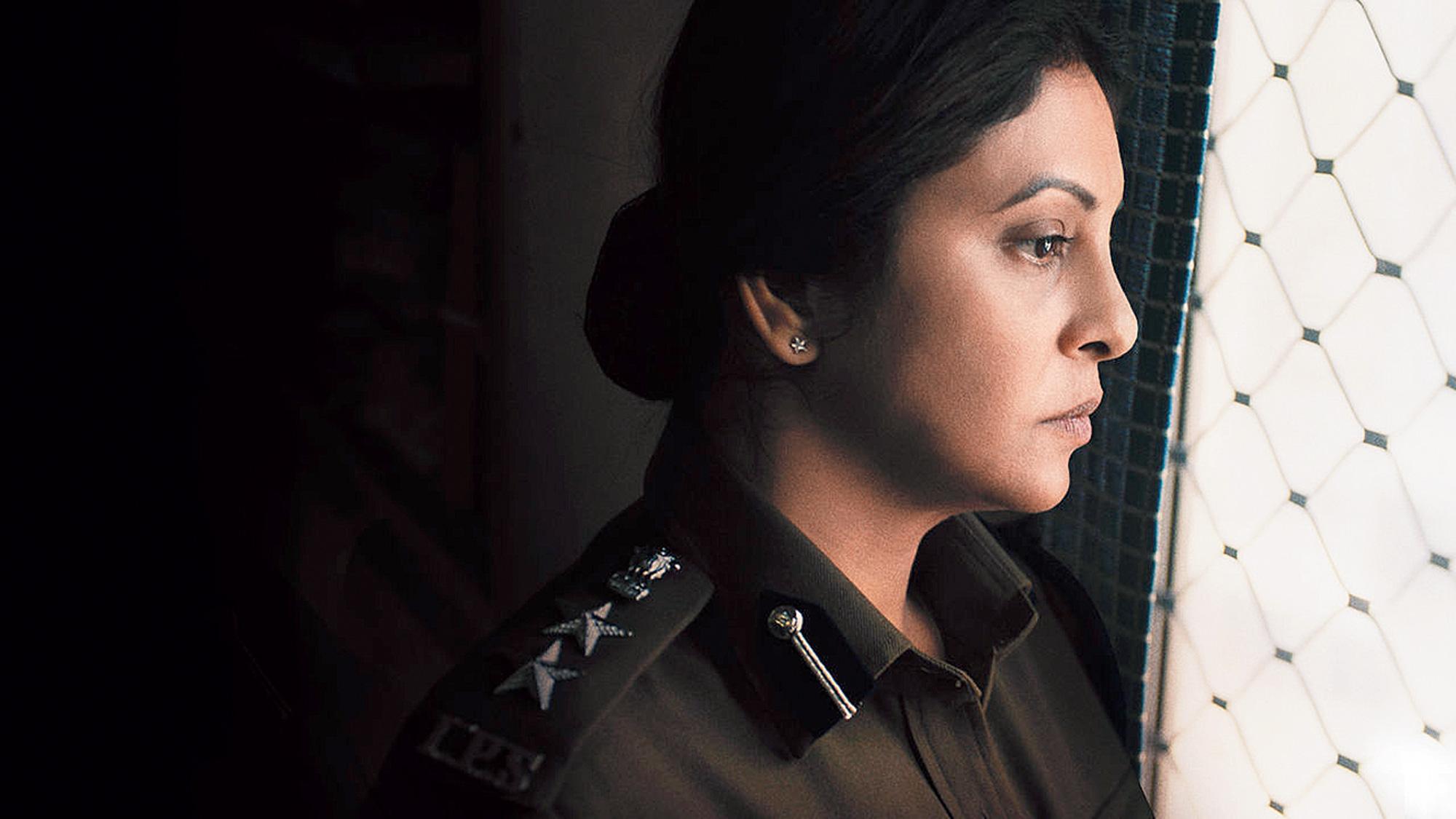 Shefali Shah as Vartika  Chaturvedi in Delhi Crime, now streaming on Netflix.