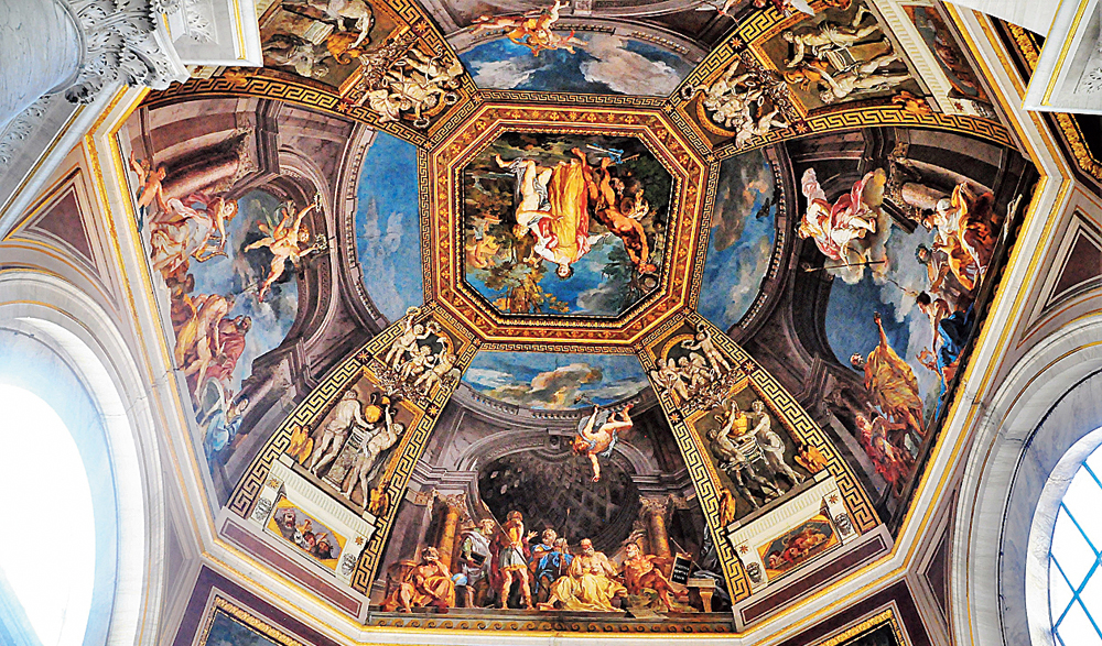 Painted ceiling in Vatican Museum