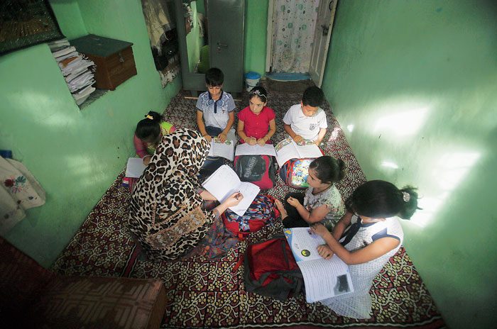 Private classes at a teacher's residence in Srinagar on Wednesday