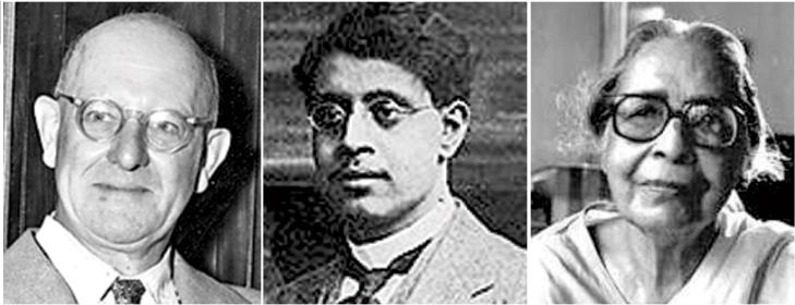 (From Left) P.G. Wodehouse, Sukumar Ray & Leela Majumdar