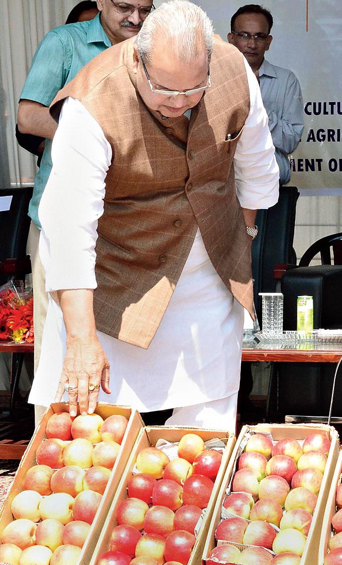 Governor Satya Pal Malik at the launch in Srinagar on Thursday.
