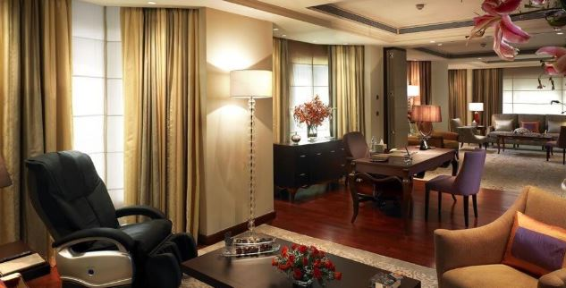 The Grand Presidential Suite of the ITC Maurya.