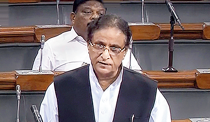 Samajwadi Party MP Azam Khan speaks in the Lok Sabha during the Budget Session of Parliament in New Delhi on Monday, July 29, 2019.