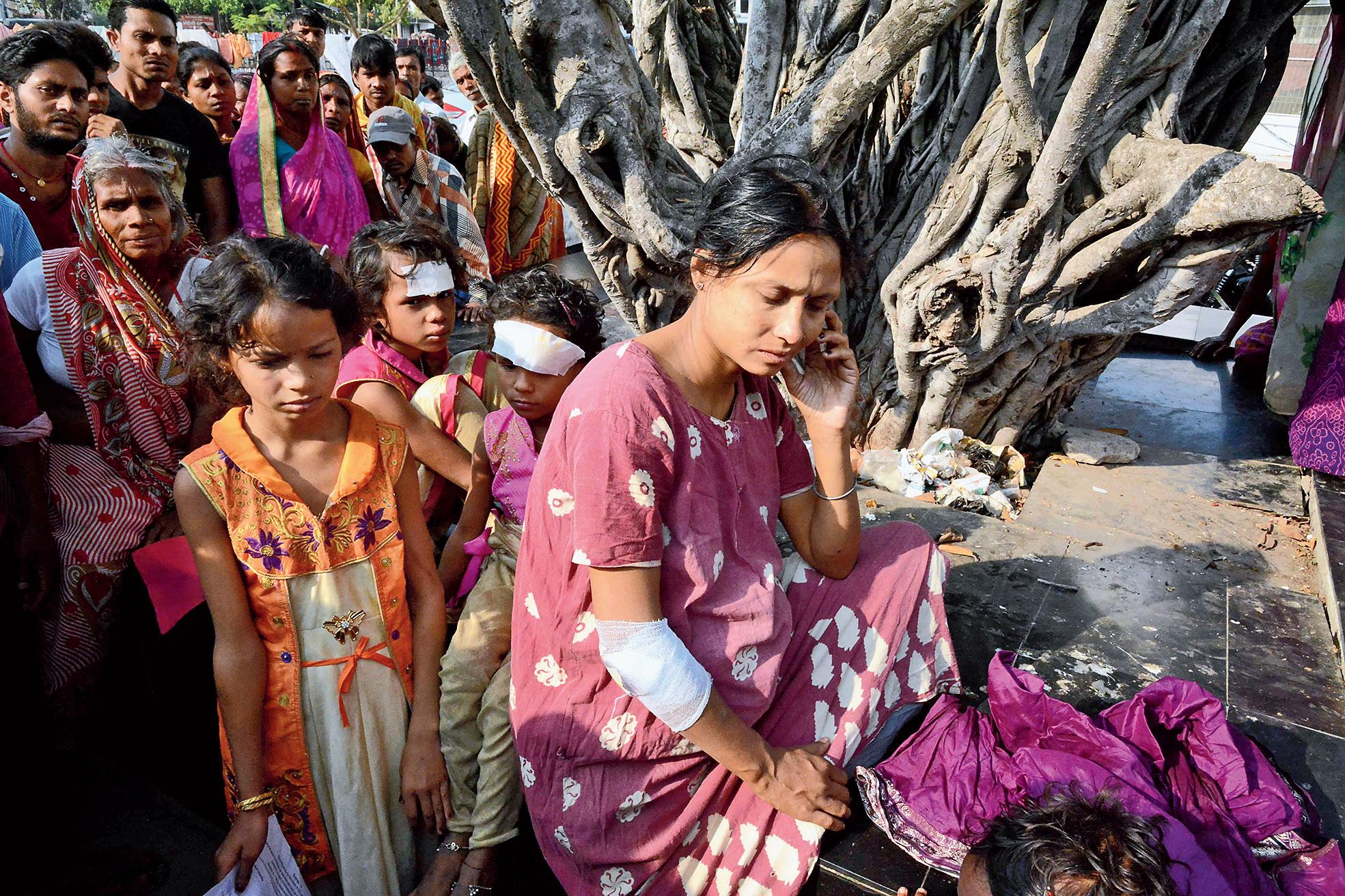 Rupam Devi outside NMCH on Friday.