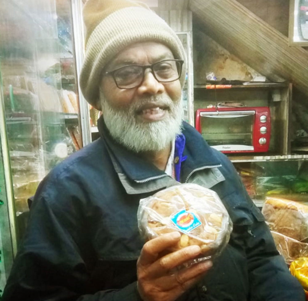 S. Anwar of Asansol with his version of a Dundee cake