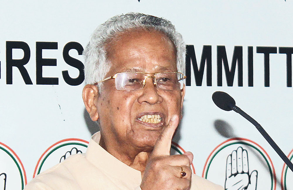 Former Assam chief minister Tarun Gogoi in Guwahati on Thursday